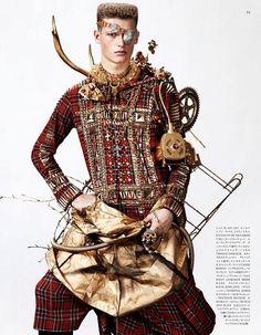 Rebirth of Nature | Julius Gerhardt by Josh Olins for Vogue Hommes Japan