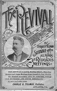 Print of Tillman's photograph on the title page of Revival No. 2, published in 1896
