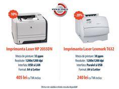 Luna Martie aduce super reduceri la toate produsele din oferta ExpertCompany Ro!  Astazi iti prezentam doua imprimante din promotie - rapide, usor de utilizat si extrem de fiabile!  10% discount pentru imprimanta Laser HP 2055DN  si  20% discount pentru imprimanta Laser Lexmark T632   Doamnele si domnisoarele beneficiaza de 10% reducere in plus, fata de pretul afisat pe site, toata luna MARTIE! Pc Shop, Laser, Washing Machine, Cool Things To Buy, Usb, Home Appliances, Cool Stuff, Cool Stuff To Buy, House Appliances