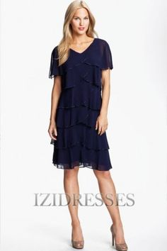 A-Line V-neck Chiffon Mother of the Bride - IZIDRESSES.com comes in many diffferent colors. Could you wear cowboy boots with this?