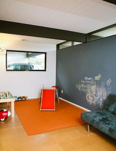 simple, uncluttered play area