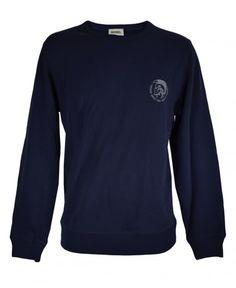 Diesel Navy SWT-Willy Crew Neck Sweatshirt Crew Neck Sweatshirt, T Shirt, Diesel, Navy, Sweatshirts, Long Sleeve, Sleeves, Mens Tops, Cotton