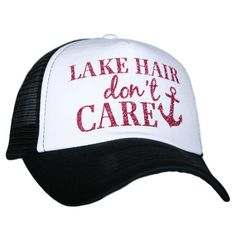 LAKE HAIR DON'T CARE GLITTER TRUCKER HAT