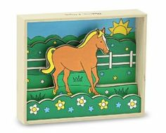 """Melissa & Doug Horse - Paint by Numbers by Melissa & Doug. $9.71. Glue the wooden pieces into the 3D display. Unlock the """"gateway"""" to the pasture by using the color key. Exceptional quality and value. Children will enjoy painting the panels. Numbered paints, brush and glue are included. From the Manufacturer                Unlock the """"gateway"""" to the pasture by using the color key. Your child will enjoy painting the panels and take pride in the handiwork when..."""