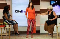Look #3: Mikado Osaka print pants, $119 Persimmon scoop neck tank, $39 Orange perfect mesh pullover sweater, $79 http://www.cityline.ca/…/cityline-lookbook-hot-spring-look…/ #Cityline #FashionFriday #SPANNER #Canadian #Fashion #LynnSpence #TracyMoore
