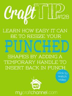 Craft Tips: Scallop Square Punch Trick Watch Tya Smith as she shares a quick and simple way to stretch your punches and make a square shape into a rectangle.