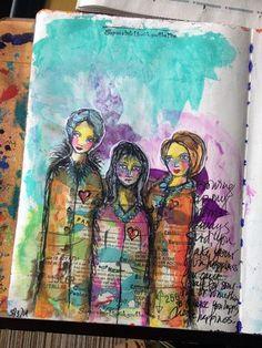 Art Journal page   Gwen Lafleur