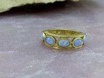 Blau Opale Ring, Opal Schmuck, romantische Geschen