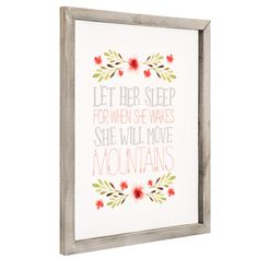 191885aa8b3a Let Her Sleep Floral Wood Wall Decor Wood Wall Decor