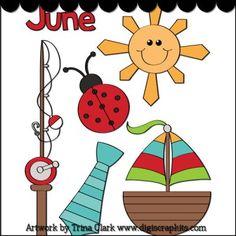 Months 06 June 1 Clip Art