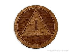 Sober Birthday Recovery Medallion Unique 12 Step Chips and AA Gifts for Men and Women RECOVERY Gifts Wooden Alcoholics Anonymous Token