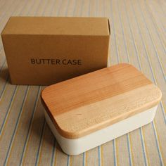butter case _ ceramic with wood top __ would like one of these