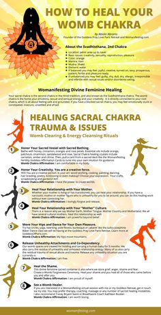 How to Heal Your Sacral Chakra Trauma: Divine Feminine Womb Chakra [Video] - - Your sacral chakra is the second chakra in the Hindi tradition, and also known as the Svadhishthana chakra. The womb chakra. Chakra Meditation, Sacral Chakra Healing, Meditation Musik, Kundalini Yoga, Chakra Mantra, Chakra Art, Reiki Chakra, Yin Yoga, Chakra System