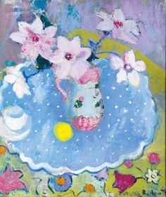 ANNE REDPATH, 1895-1965 STILL LIFE WITH PINK LILIES