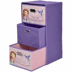 Disney Sofia the First Collapsible 3-Drawer Storage