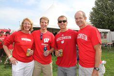 Badger fans at Badgerville