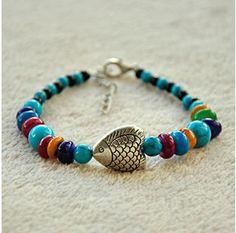 DIY-Idee:  Armband aus Holzperlen und tibetischen Silber