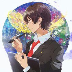 Irozuku Sekai no Ashita kara 色づく世界の明日から Boys Anime, Manga Boy, Anime Art Girl, All Anime, Anime Manga, Saiunkoku Monogatari, Ao Haru, Cute Couple Cartoon, Gekkan Shoujo