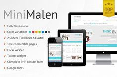MiniMalen - Responsive HTML Template ~~ MiniMalen is a clean, contemporary HTML template created for business and portfolio websites. It is fully responsive and automatically adapting to any screen size. Resize your browser to see its responsiveness in action providing consistent experience on a…