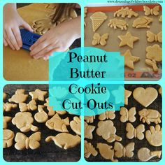 Peanut Butter Cookie Cut-Outs --These are by far THE BEST peanut butter cookies I have ever made. Plus the dough is SUPER EASY to work with!