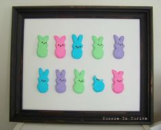 Even if you don't like Peeps--this is CUTE! Could see doing this, taking picture for Easter cards.