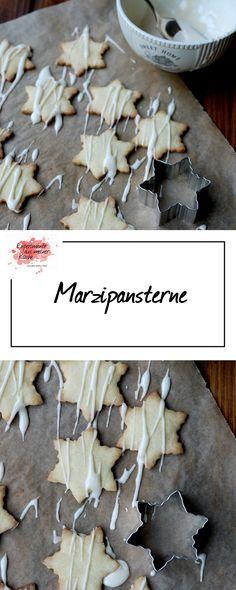 Marzipansterne | Weihnachtsbäckerei | Rezept | Backen | Plätzchen