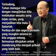 mario teguh Quotes Indonesia, Start Writing, Mario, Education, Om, Islam, Instagram, Onderwijs, Learning
