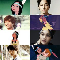 Fairytale Sons & Daughters edit // Peter Pan - Tiger Lily's Son // Kai of EXO