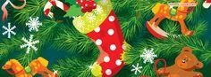 Christmas Tree Stocking Facebook Cover coverlayout.com