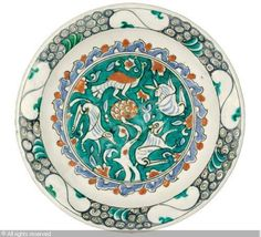 IZNIK CERAMIC, 16 > (Turkey)  Title : DISH  Date : 1580/1600  DISH sold by Sotheby's, London, on Wednesday, October 05, 2011