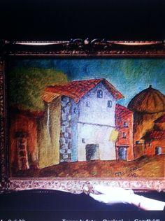Dipinto casa di campagna