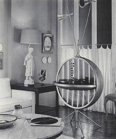 HI-FI Sphere - (atomic age, space era, mid century modern) Mid Century Modern Design, Mid Century Modern Furniture, Midcentury Modern, Radios, Mid Century Decor, Mid Century House, Art Deco, Atomic Age, Googie