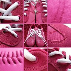 # Pink sneaker collage