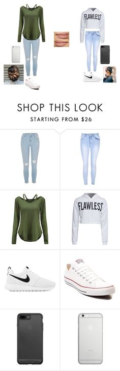 """""""outfits"""" by maliyah-waldron on Polyvore featuring River Island, Glamorous, WithChic, NIKE, Converse and Native Union"""