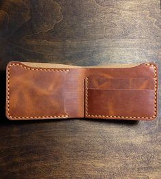 Horween Leather Billfold Wallet | Update your back pocket contents with this handsome leather bi... | Handbags, Wallets & Cases