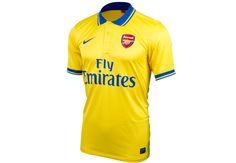The Nike Arsenal Away Jersey. The classic golden yellow is back. Arsenal Shirt, Arsenal Jersey, Arsenal Fc, Best Club, Soccer Ball, Premier League, Liverpool, Polo Ralph Lauren, Soccer Jerseys
