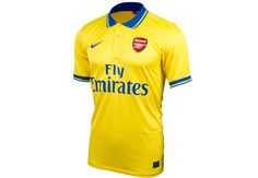 The 2013/14 Nike Arsenal Away Jersey. The classic golden yellow is back.