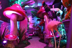 Alice in Wonderland Party Theme | Props, Ideas, Decorations Supplies: 5ft 3D Toadstool