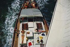 photos by Slim Aarons - Yacht in the Bahamas 1967
