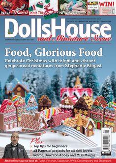 Christmas 14 Dolls House and Miniature Scene front cover. www.dollshouseandminiaturescene.co.uk