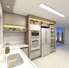 42 veces he visto estas buenas alacenas de cocinas. Kitchen Cabinet Interior, Kitchen Cabinetry, Home Decor Kitchen, Interior Design Kitchen, Kitchen Furniture, Modern Kitchen Renovation, Modern Kitchen Design, Kitchen Remodel, Modernisme