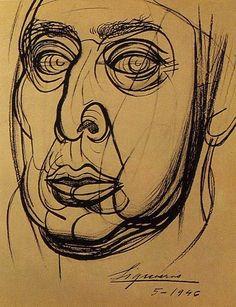 Sigueiros, David Alfaro (1896-1974) - 1946 Self-Portrait (Private Collection) by RasMarley, via Flickr