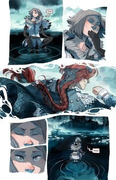 Stand Still. Stay Silent - webcomic, page 272 Water river pose background fantasy art inspiration material Character Inspiration, Character Art, Character Design, Bd Cool, Comic Book Layout, Bd Art, Illustrations, Illustration Art, Graphic Novel Art