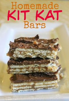 Make your own homemade Kit Kats at home in 15 minutes from This Mama Loves. #chocolate #homemadecandy