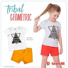 Looks confortáveis para as crianças se divertirem muito! Moda Infantil Brandili - Primavera 2016