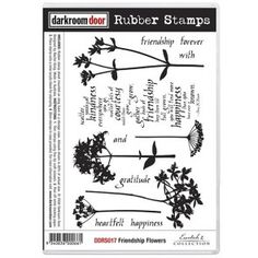 Rubber Stamp Set - Friendship Flowers