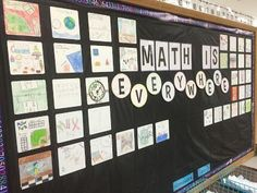Math bulletin board for back to school
