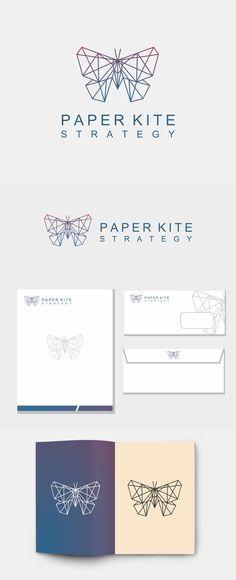 Geometric Line Art Butterfly Logo Design on Behance
