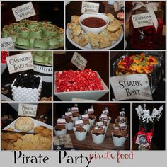Pirate Party Food. Lots of ideas and links to printable items