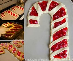 Candy cane berry pie